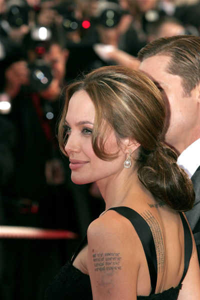 Angelina's Low Ponytail