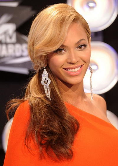 Beyonce's Side Ponytail