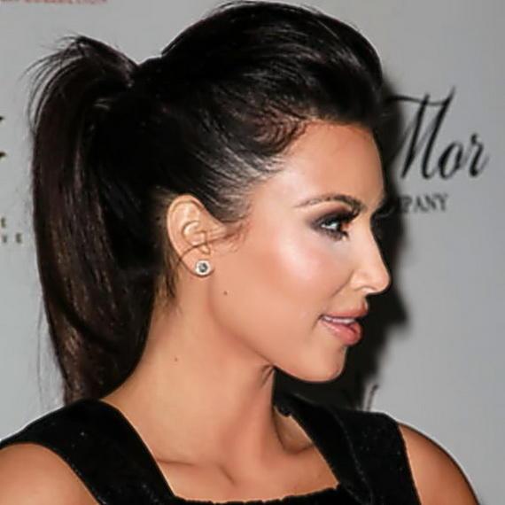 Kim's Bumped Up Ponytail