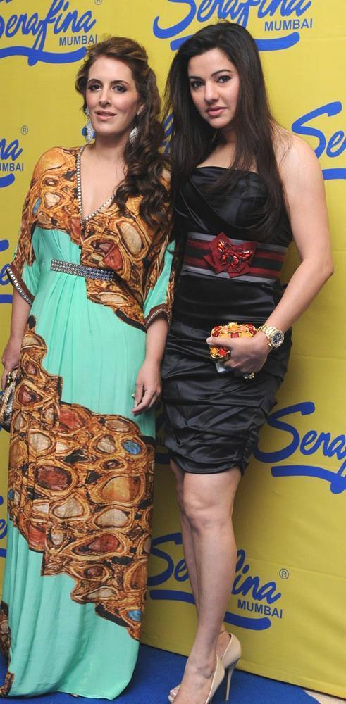 Pria With Kaykasshan During The Launching Event Of Serafina Mumbai Restaurant