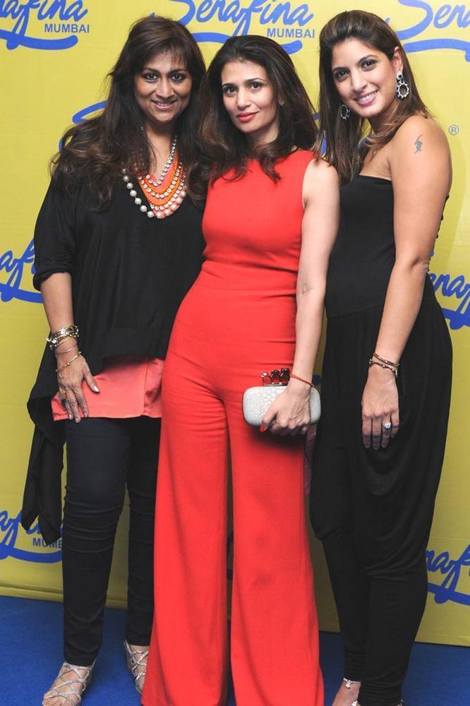 Sharmilla,Rhea And Nayntara Pose For The Camera At Serafina Mumbai Restaurant Launch