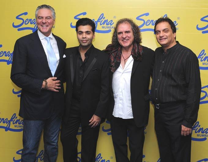Vittorio,Karan,Fabio And Sunil At Serafina Mumbai Restaurant Launch