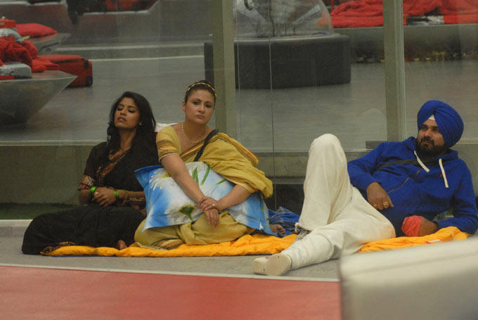 Urvashi And Navjot Singh Sidhu In The Bigg Boss House