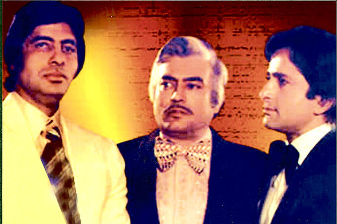 Amitabh,Sanjeev And Shashi A Still From Trishul