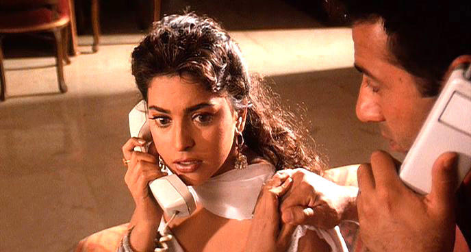 Juhi With Sunny A Still From Darr
