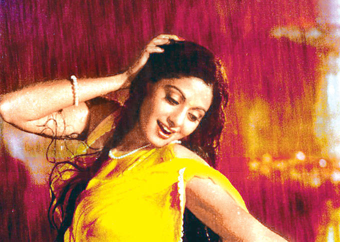 Sridevi Wet Sexy Still From Chandni