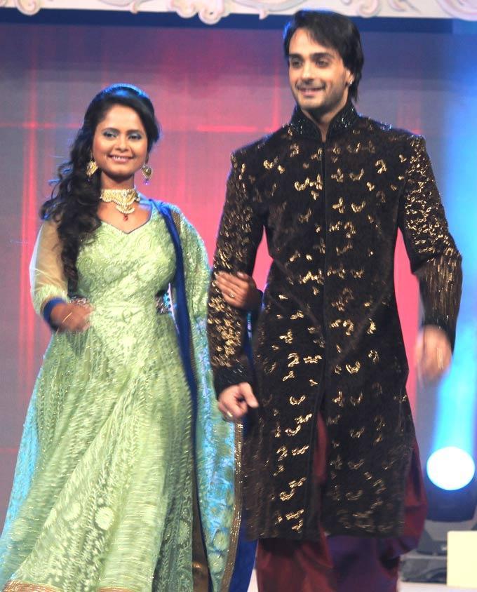 Sadia And Angad Walks At Gitanjali ITA Fashion Show
