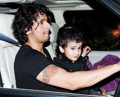 Singer Sonu With Son Nevaan Still