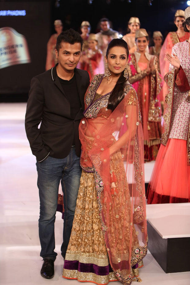 Malaika With Designer Friend Vikram Walk On The Ramp At The Blenders Pride Fashion Tour 2012