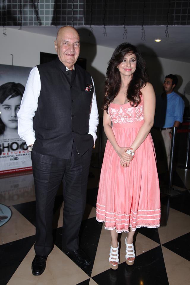 Prem And Urmila Pose For Camera At Delhi Safari Special Screening