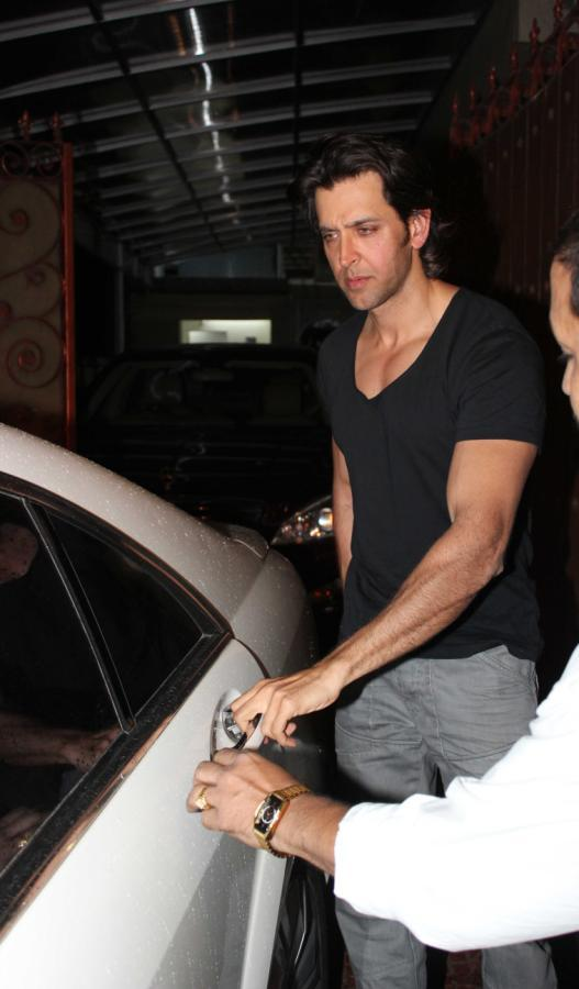 Bollywood Actor Hrithik Roshan Snapped At Aditya Chopra Residence