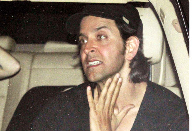 Hrithik Snapped In Car On His Way To  Uday Chopra Resident