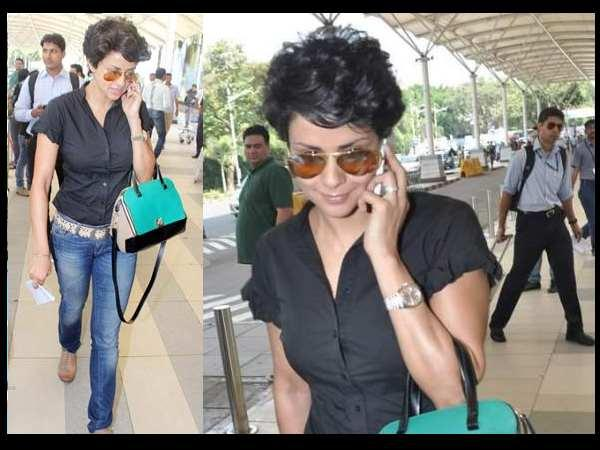 Gul Panag Spotted At Airport