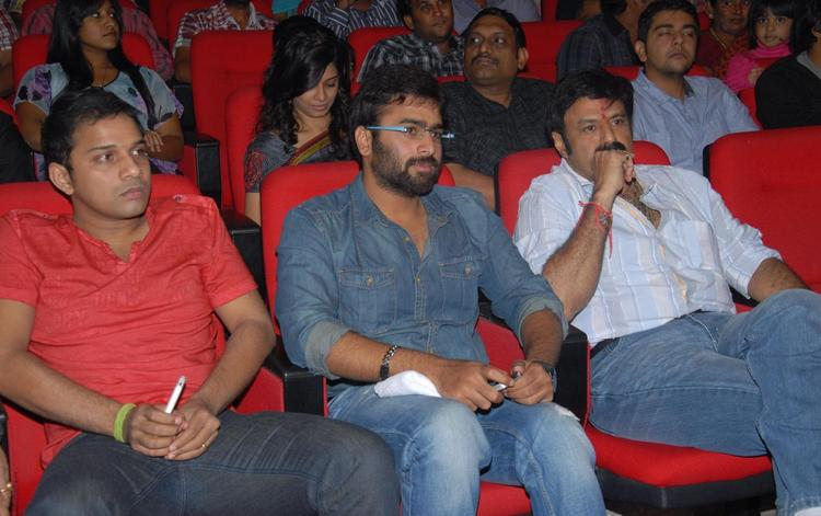 Nara And Balakrishna During The Audio Release Of Okkadine Movie