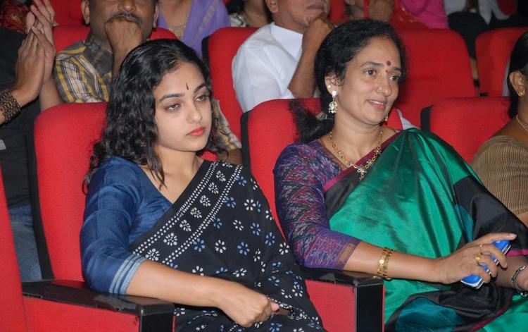 Nithya Menon At Okkadine Audio Release Function