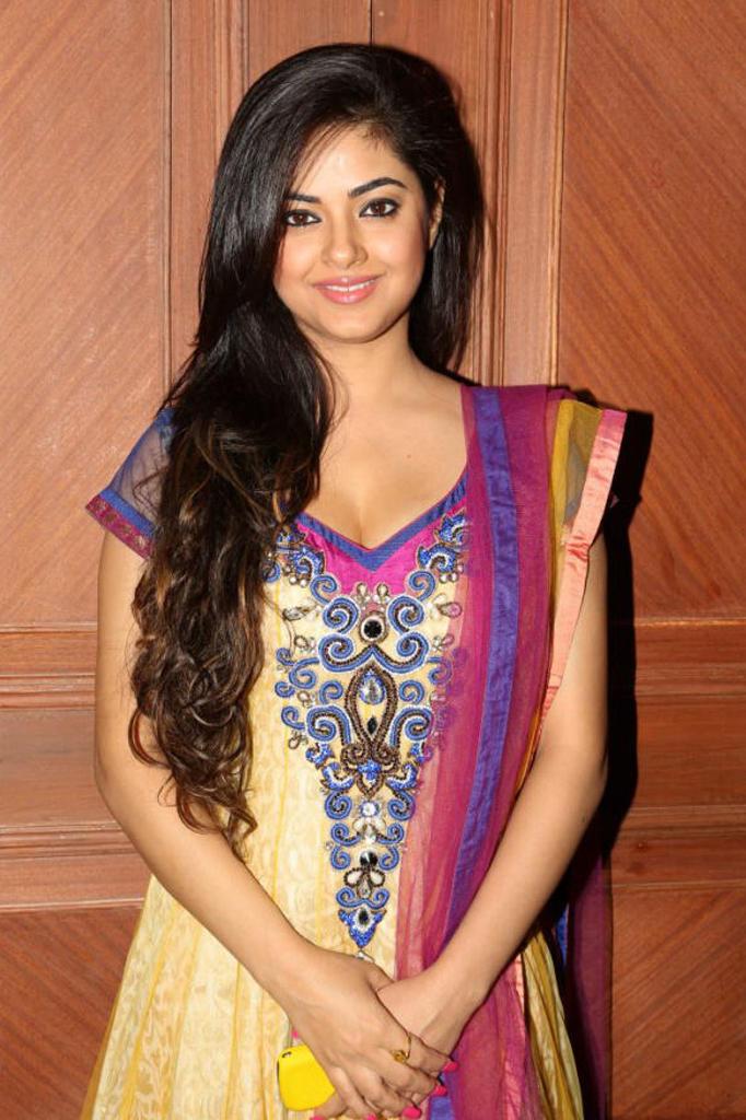 Meera Chopra Hot Look In Pink And Yellowish Dress