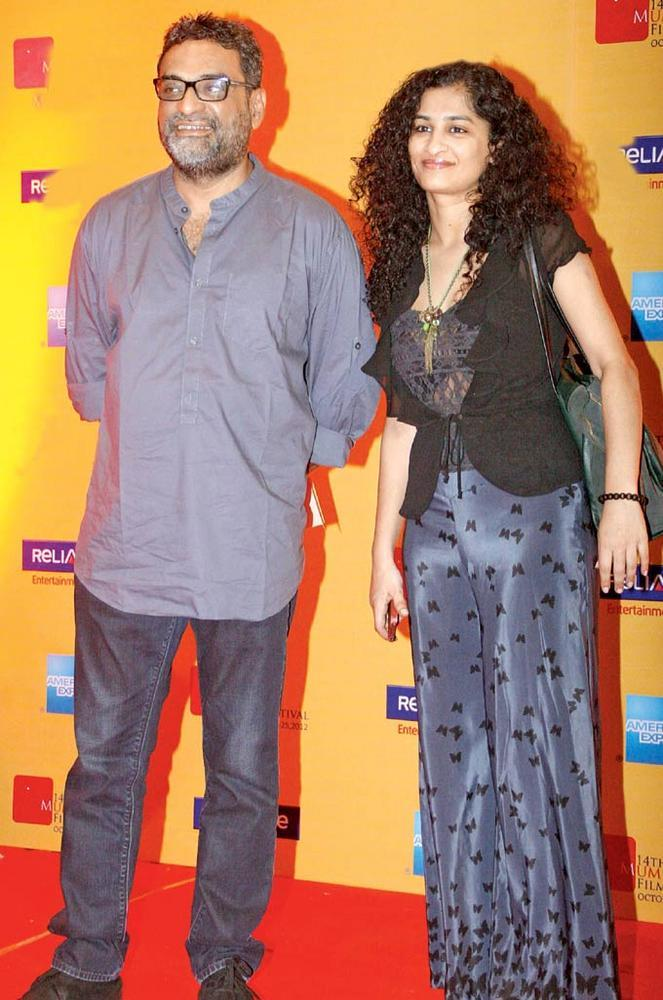 R Balki With Wife Gauri Shinde Spotted At Fun On 70 mm