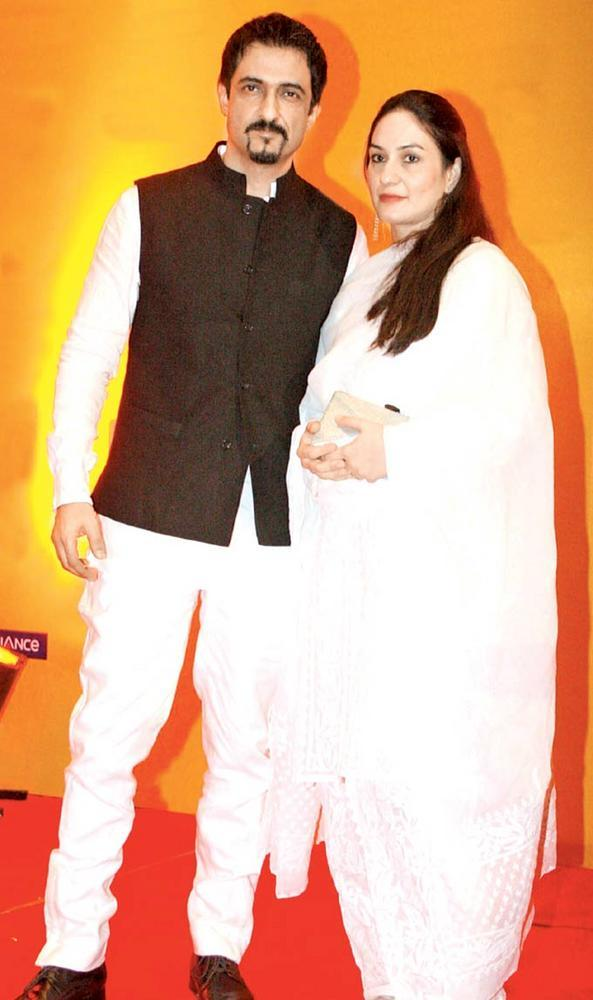 Sanjay With Wife Ambika Posed For Camera At The Opening Of  Film Fest