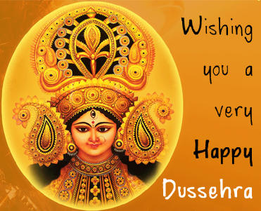 Happy Dussehra Wishes Through Greeting Card