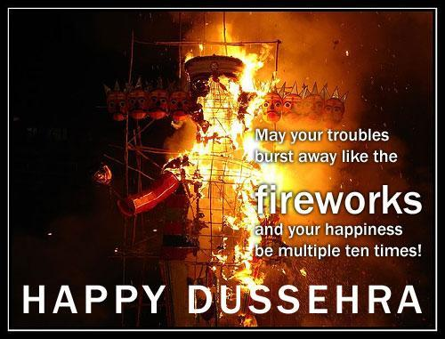 Wish You A Blessed And Joyous Dussehra Through Greeting Card