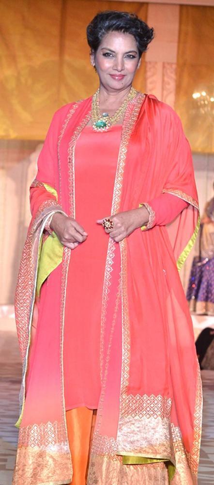 Shabana Azmi Walks On Ramp At The Sahchari Foundation