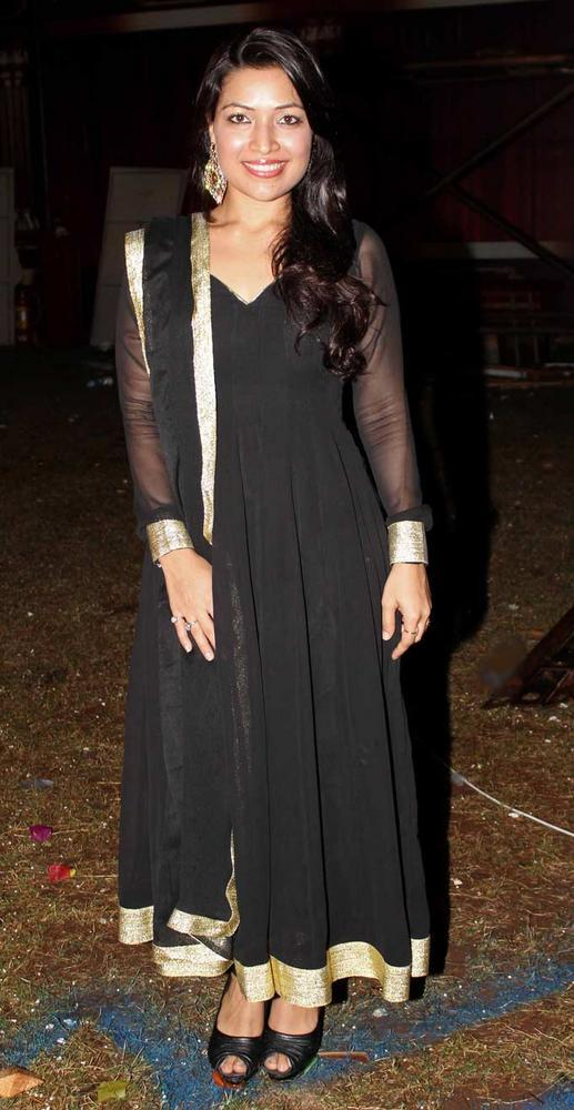 Amita Pathak Spotted At Falguni Pathak's Navratri Event