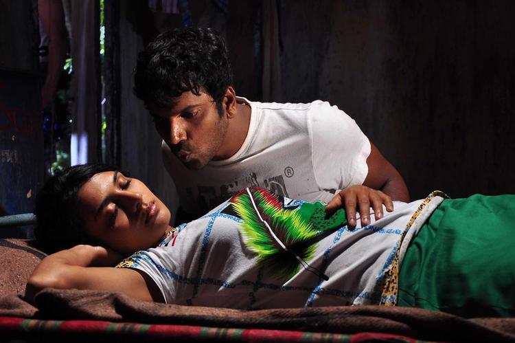 Satish And Bhavana Spicy Pose Photo During The Movie Drama