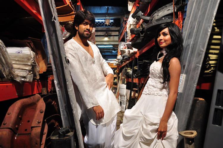 Yash And Radhika Awesome White Dress Still