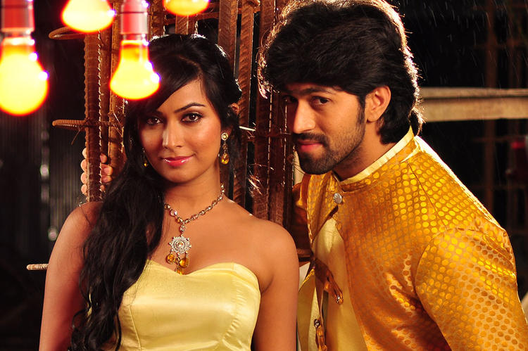 Yash And Radhika Smiling Face Look Still