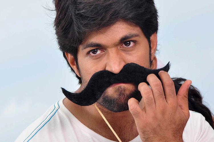 Yash Photo Shoot With Large Moustache In Sandalwood Drama Movie Shoot