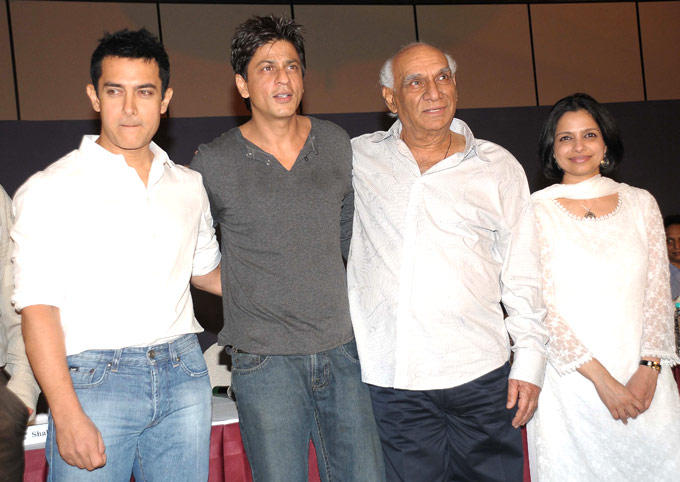 The Filmmaker Yash With The Two Reigning Khans Of Bollywood Aamir And Shahrukh