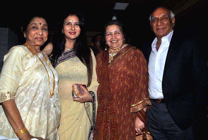 Poonam With Yash Wife Pamela And Asha During Her Birthday Celebration Earlier This Month
