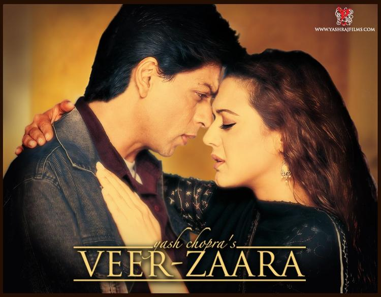 Shahrukh And Preity In VeerZaara Movie Poster