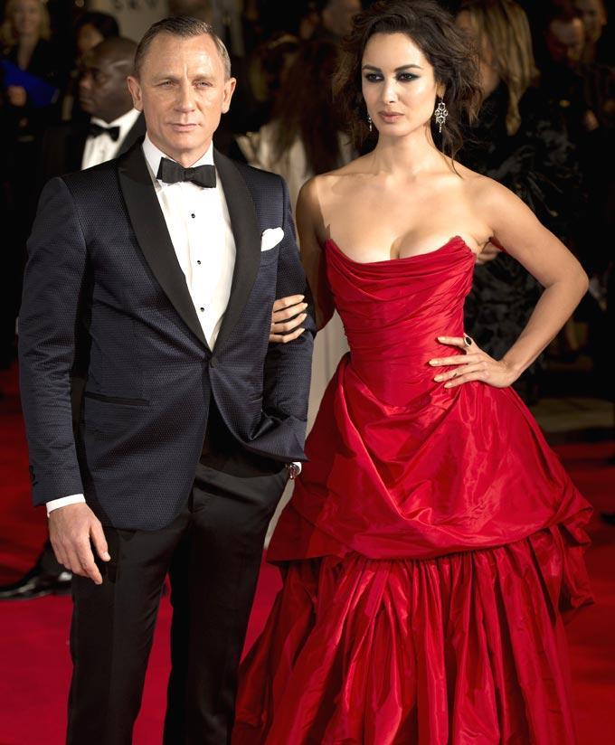 Daniel Poses With Skyfall Co Star Berenice Marlohe At Royal Albert Hall