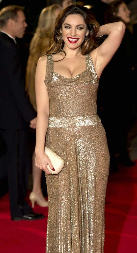 Kelly Brooks Looked Radiant And Beautiful In Golden Gown