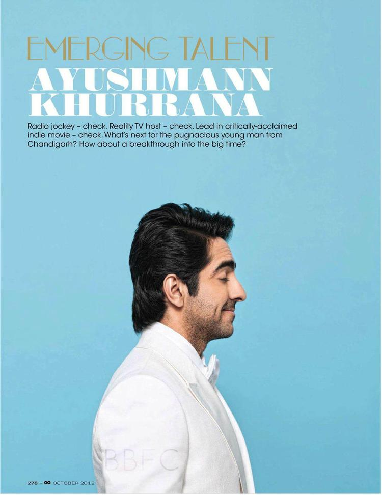 Ayushmann Funny Expression Still At GQ India Men Of The Year 2012 Awards