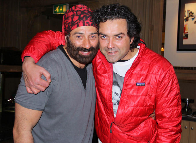 Sunny Deol With Brother Bobby At His Birthday Bash