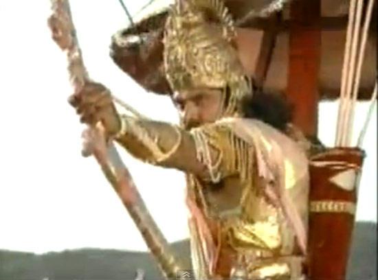 Pankaj Bow And Arrow Fight Sequence Photo From Mahabharat
