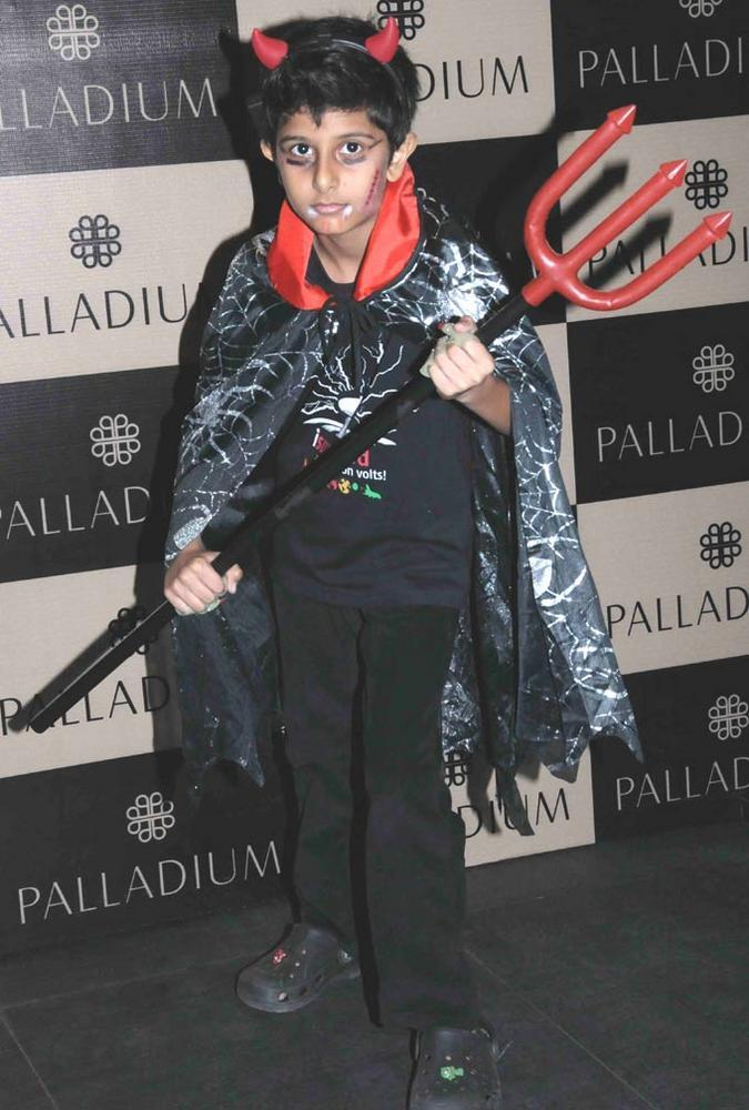 A Boy Wear Ghost Costume Still At Get Spooked Bacha Party
