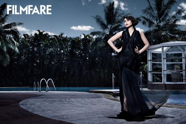 Rani Hot Look In Black  Design  Dress Photo Shoot For Filmfare