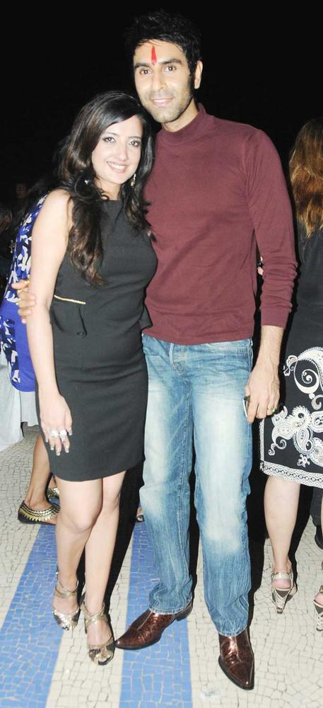 Amy With Sandip Photo Clicked At Her  Birthday Bash