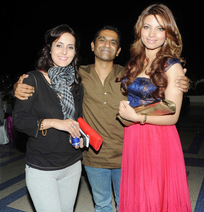 Tulip With Capt. Nair And Shama Photo Clicked At Amy Billimoria Birthday Bash