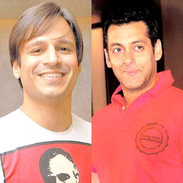 Vivek And Salman Nice Look With Cute Smiling Still
