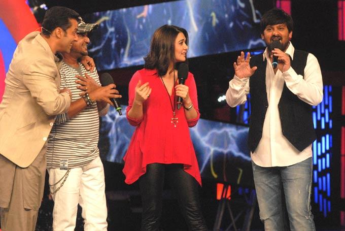 Preity,Salman,Sajid And Wajid On Bigg Boss 6