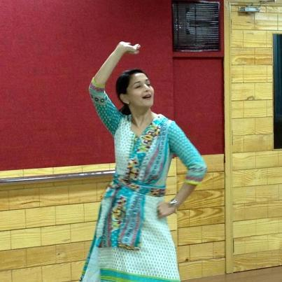 Madhuri Dixit Rehearsing For A Dance Performance For People's Choice Awards