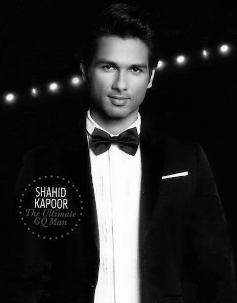 Shahid Nice Look With Cute Smiling Still For GQ Magazine October