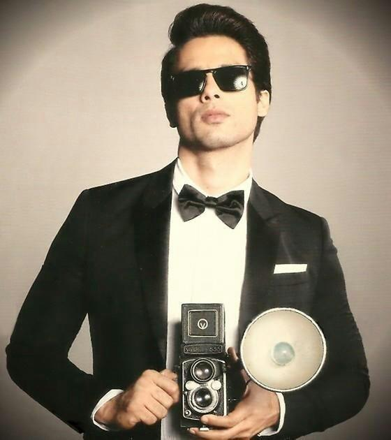 Shahid Photo Clicked As A Cameraman With Expression For GQ Magazine