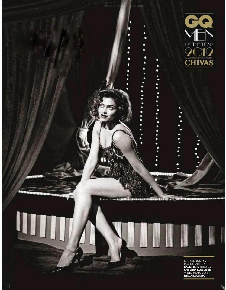 Deepika Spicy Pose Photo Shoot For GQ India Magazine