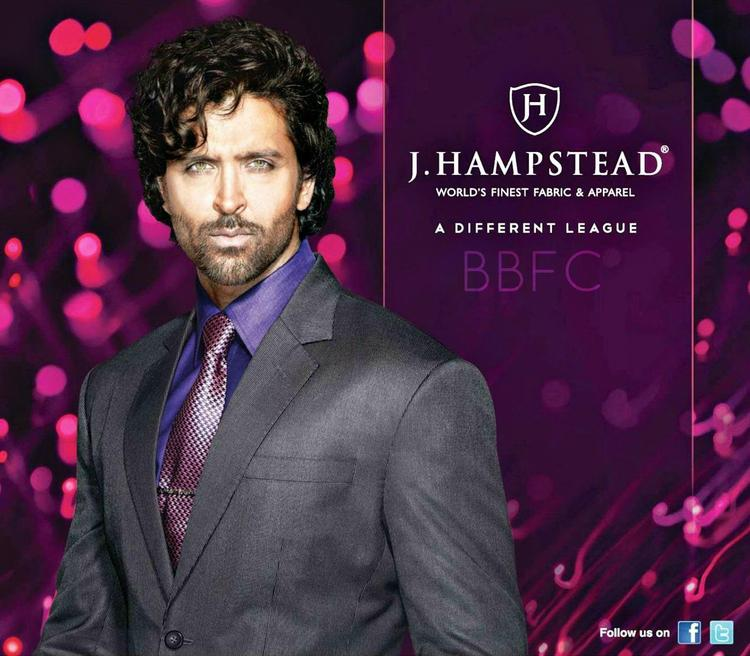 Handsome Hrithik Roshan Nice Look For J Hampstead Suitings