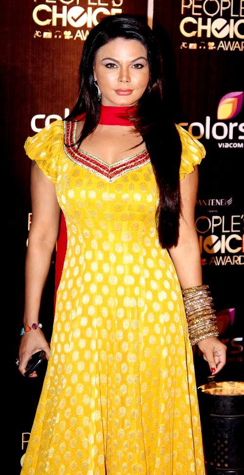 Rakhi Sawant Spotted At The People's Choice Awards